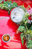 Lamp of a wedding car — Stock Photo