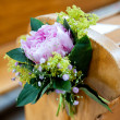 Beautiful flower wedding decoration — Stock Photo