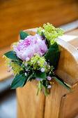 Beautiful flower wedding decoration — Stock Photo