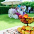 Stock Photo: Garden Party with Fruit Bowl