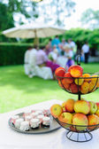 Garden Party with Fruit Bowl — Stock Photo