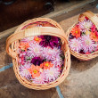 Stock Photo: Basket full of Flower Blossoms