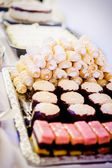 Buffet with a variation of sweets — Stock Photo