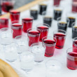 Stock Photo: Shotglasses with different liquers