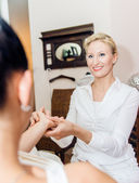 Reflexology hand massage — Stock Photo