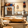 Stock Photo: Old Kitchen at Farm in Austria