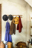 Rural Cloakroom with Clothes — Stock Photo