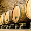 Stock Photo: Wine barrels in aging cellar