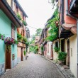 Alley in a medieval town — Stock Photo