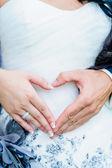 Couple make Heart Shape — Stock Photo