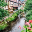 Traditional houses in alsace — Stock Photo