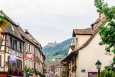 Alley with Castle in Alsace — Stock Photo
