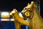 Golden Lion Sculpture — Stock Photo