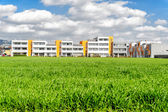 Housing estate in a summer setting. — Stock Photo