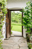 Entrance of a Farm House — Stock Photo