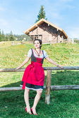 Young Woman in the austrian Alps — Stock Photo