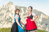 Two beautiful Woman in the Alps — Stock Photo