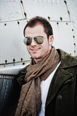 Pilot with Sunglasses — Stock Photo
