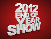 End of the year 2012 — Stock Photo
