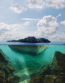 浮岛 — 图库照片