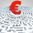 Euro Maze — Stock Photo