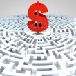 Dollar Maze — Stock Photo