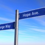 Change way to hope — Stock Photo