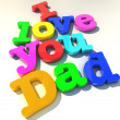 Royalty-Free Stock Photo: I love you dad