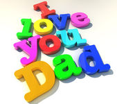 I love you dad — Foto de Stock