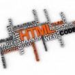 Html word clou — Stock Photo #24259827