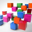 Colorful Cubes — Foto de Stock
