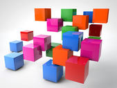 Colorful Cubes — Stock Photo