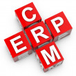 ERP and CRM key to success — Stock Photo