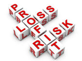 Profit Loos Risk — Stock Photo