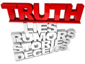 Truth Lies — Stock Photo