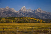 Tetons at Autumn — Stock Photo