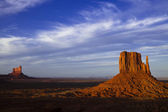Evening View of Monument Valley — Stock Photo