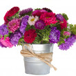 Bouquet of aster flowers in vase — Stock Photo #12793522