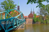Bridge to island Tumski, Wroclaw, Poland — Stock Photo