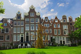 Begijhof houses, Amsterdam, Netherlands — Stock Photo