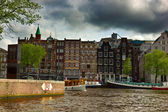 Canals of Amsterdam, Netherlands — Stock Photo