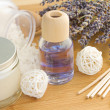 Lavender spa settings — Stock Photo