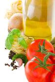 Pasta ingredients border — Stock Photo