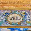 Canarias sign over a mosaic wall — Stock Photo