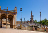 Bridge of Plaza de España, Seville, Spain — Stock Photo