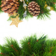 Chrismas decorations and pine cones — Stock Photo #13658511