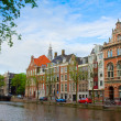 Old  houses of Amsterdam, Netherlands — Foto de Stock