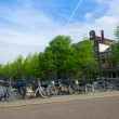 Bicycles  of Amsterdam, Netherlands — Stock Photo