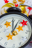 New year's clock — Foto de Stock