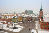 Old town square in winter, Warsaw, Poland — Stock Photo